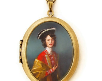Art Locket - Fair Captain - Portrait Oil Painting Reproduction Art Locket Necklace