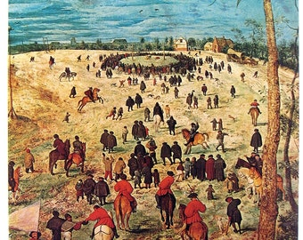 Bruegel the Elder - The Procession to Calvary (Detail), The Penitent Magdalen - Vintage Book Page - 1975 Reproduction Print - 16 x 11
