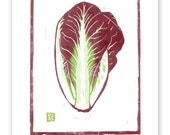 Radicchio Block Print Art Reproduction
