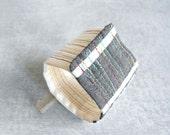 Modern Cuff Bracelet //  Plaid Cotton Fabric Bracelet // Eco Friendly Handmade Jewelry by Luluanne ON SALE