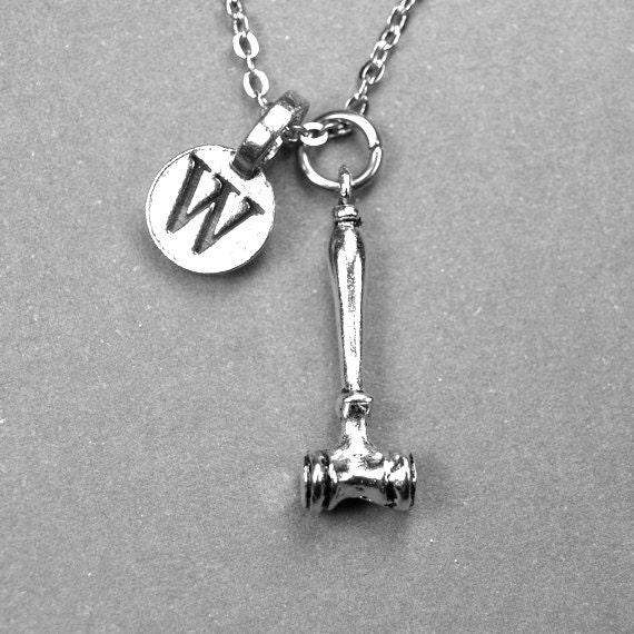 gavel necklace gavel charm lawyer necklace necklace