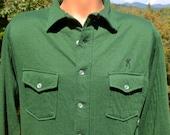 vintage 70's shirt BROWNING hunting thermal button down green Medium deer shooting gun