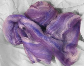 Amy - Hand Pulled Roving - merino/silk