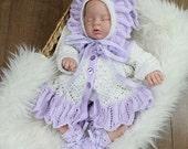 KNITTING PATTERN For Baby Matinee Jacket, Bonnet & Booties PDF 195 Digital Download