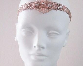 Blush Beauty Flapper Beaded Headband