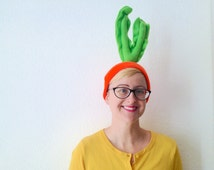 Carrot Beanie - Vegetable Costume Piece - Easy Halloween Costume