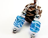 RESERVED: Snow Flurry Earrings, Free Shipping, OOAK, Laura Mae Jewelry