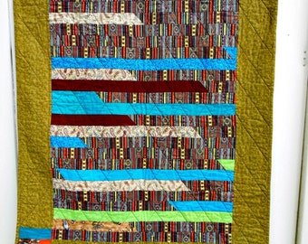 Jelly Roll Lap Quilt - Wallhanging - OOAK