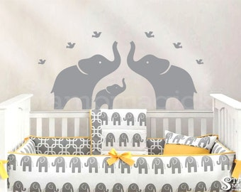 Charming Wall Decal   Elephant Wall Decal   Nursery Vinyl Wall Decal Sticker  Graphics   K118X Part 22
