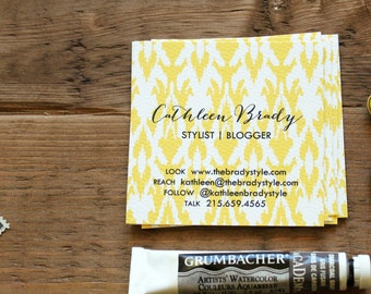Ikat Calling Cards / Business Cards / Blogger Cards - Set (50)