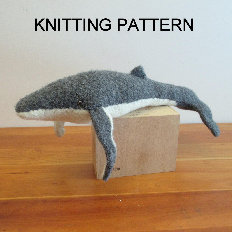 Humpback Whale Knitting Pattern Felted Stuffed Toy PDF