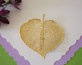 Aspen Leaf Brooch Gold, Aspen Leaf Pin, Real Leaf, Gold Leaf, BROOCH24