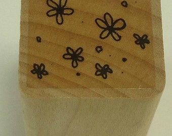 Small Flowers Wood Mounted Rubber Stamp Close To My Heart