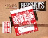 Instant Download Valentine's Day Hersheys 1.55oz Candy Bar Wrapper - Non Personalized PDF file