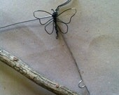 Rustic Wire and Tree Branch Wedding Hanger Wire Butterfly or Dragonfly Detail  Limited Edition
