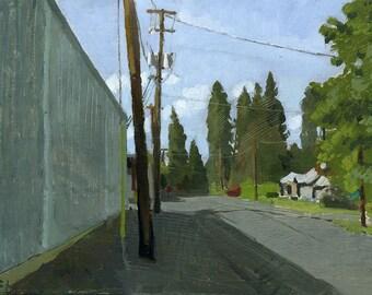C St. Phoenix, Oregon: Original Oil Painting Urban Plein Air Landscape
