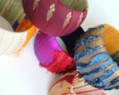 Brilliant Sari Silk Bangles Vibrant and Bold Colorful Stripped Fiber & Wood Bangle Bracelets for Spring and Summer - Anthropologie Style
