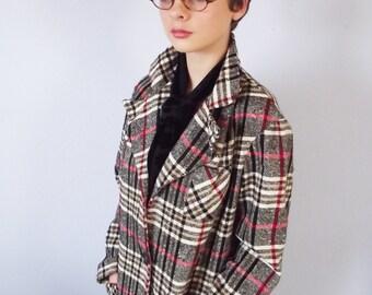 Vintage Plaid Jacket - Women's 1960s Blazer - NPC Fashion - Warren PA