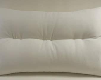 NECK ROLL Pillow Wool Organic Cotton Ergonomic USA Made Standard Queen King Body