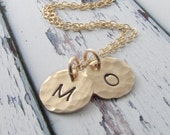 Christmas Gift - Personalized Necklace - Gold Initial Necklace - Gold Necklace - Personalized Jewelry - Initial Jewelry - Gift For Her