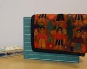 Vintage Embroidered Folk Art Wall HangingTextile