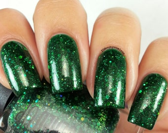 Enchanted Forest// Handmade Holographic Glitter Nail Polish// Cruelty Free