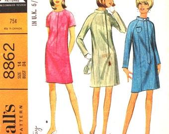 6 Panel Skirt with Raglan Sleeves Bust 34
