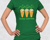 Ladies' Tee - Baby Carrots Women's Shirt - Sizes S-M-L-XL-2XL - Cute Food Carrot Veggie Vegetable Vegetarian Vegan Girl Tshirt