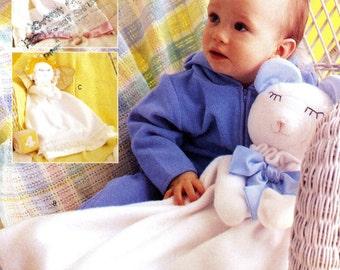 Butterick 3231 Baby Blanket Stuffed Animal Bear Angel Lamb Uncut Sewing Craft Pattern 2001