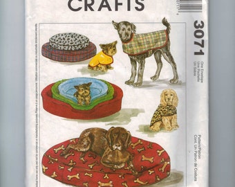 Craft Sewing Pattern McCalls 3071 Pet Accessories Cat Dog Bed Cover UNCUT