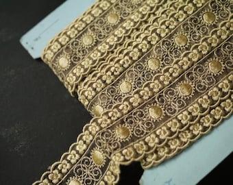 Vintage Gold Jacquard Trim