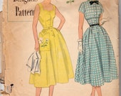 """Vintage Sewing Pattern 1950's Designer Ladies' Dress and Bolero Simplicity 8283 34"""" Bust - Free Pattern Grading E-book Included"""