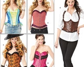 Costume Sewing Pattern Misses Corsets and Ruffled Shrug Simplicity 1345 Sizes 6-14 Unused