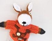 Handmade knitted dog soft children's toy, knit toy, knit doll, hand knitted toys, dog soft toy, handmade knitted dog, plush dog