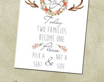 Printable 8x10 PDF- Wedding/Event Seat Sign