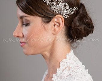 Rhinestone Bridal Headpiece, Wedding Hair Piece - Krystal