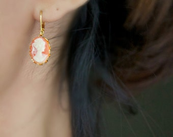 Lorelai - Cameo Earrings