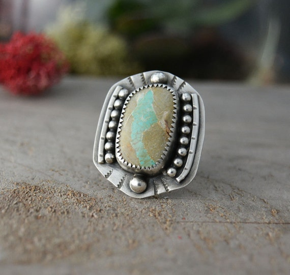Royston ribbon turquoise ring southwestern statement ring for Royston ribbon turquoise jewelry