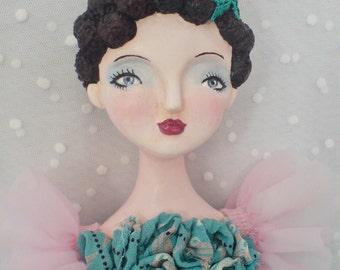 Tamara - Ooak wall art doll