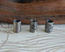 Silver Knotwork, Pyrite and Bronze Beads for Beards or Hair // Made to Order