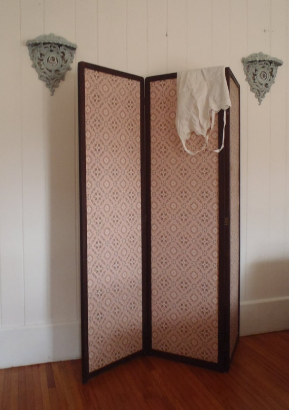 1920s edwardian tri fold dressing room privacy screen