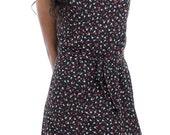 Floral Black Dress // Black Floral Boho Tea Dress // Floral English Rose Dress / Black Dress