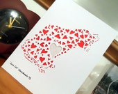 Love Cat - Papercutting template to cut your own card (personal use)