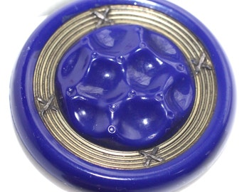 Button ~ Old Cobalt Glass - X-Large