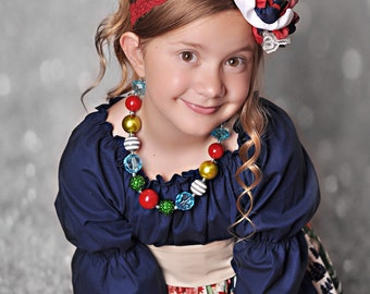 Made to match Silent Night & Peppermint Patty 2014 Christmas Dress by Corinna Couture Chunky Necklace for Little Girls
