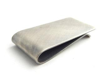 Sterling silver money clip, 18 gauge handmade solid sterling silver money clip.