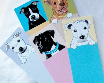 Pit Bull Bookmarks - Eco-friendly Set of 5
