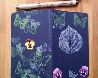 Moleskine Journal, Decorated Journal, Writing Journal, Small, Gift for Writer, Moleskine Notebook, Hostess Gift, Flower, Floral, Butterflies