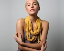 Circle Scarf, Womens Gift, Gift For Her, Gift Idea, Boho, Infinity Scarf, Yellow Scarf, Winter, Gift, Mustard Yellow Scarf, Boho Chic