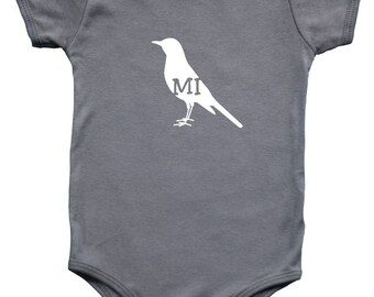 Michigan- State Your Bird Baby Bodysuit Graphic Shirts - New Original Line